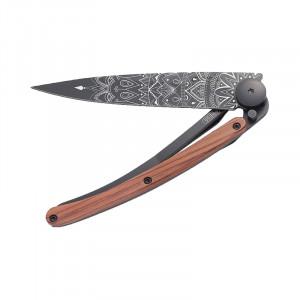 Couteau Deejo Tatoo Mandala bois corail 37g