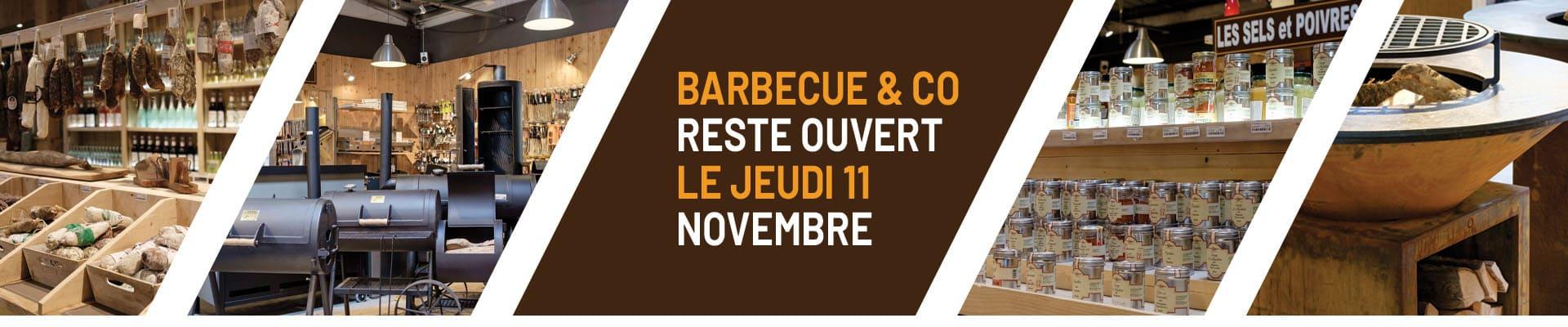 Magasin ouvert 1 et 11 novembre